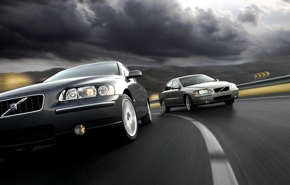 Картинка движение, Volvo, обгон