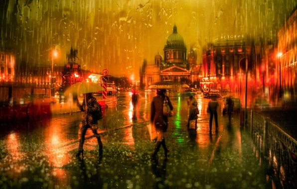 Картинки осень дождь для детей - 3a