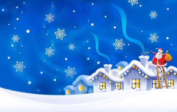 Новый год подарки снежинки