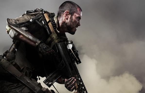 Картинка оружие, кровь, дым, солдат, боец, экзоскелет, DLC, раны, Activision, Sledgehammer Games, Call of Duty: Advanced …