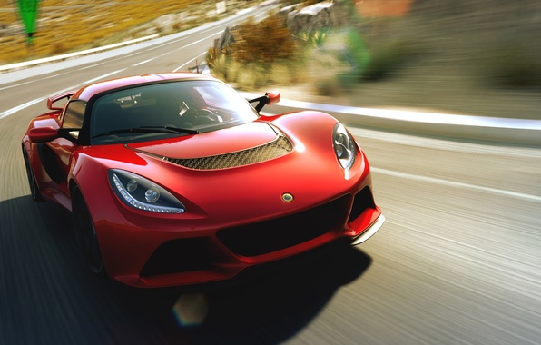 Картинка дорога, скорость, спорткар, Lotus Exige, Lotus Exige S V6