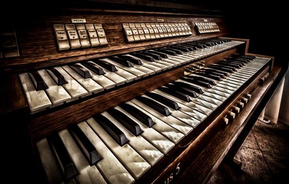 Piano Keyboard Instrument Music Vintage Wallpaper