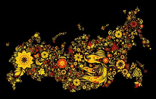 Картинка россия, роспись, хохлома