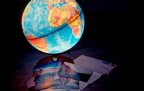 Картинка лампа, карта, светильник, глобус