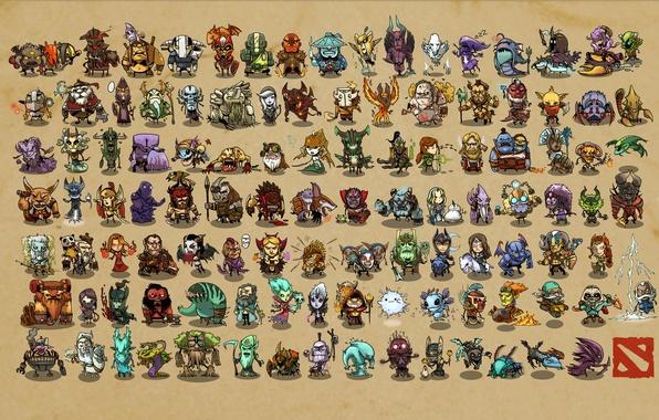 Картинка Dota 2, Phoenix, Doom, Centaur Warrunner, Elder Titan, Tusk, Night Stalker, Chaos Knight, Sven, Pudge, …