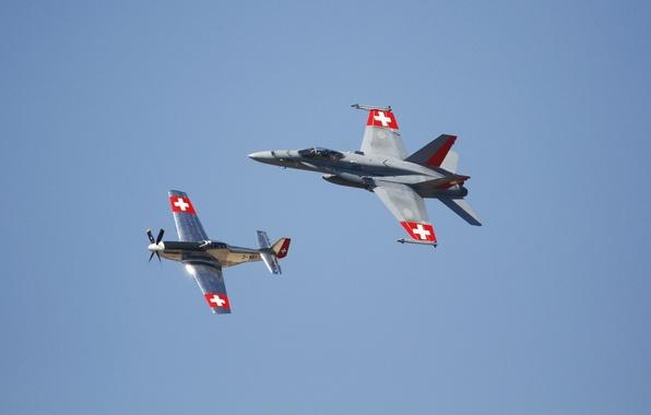 Картинка полет, Mustang, истребители, P-51, Hornet, FA-18