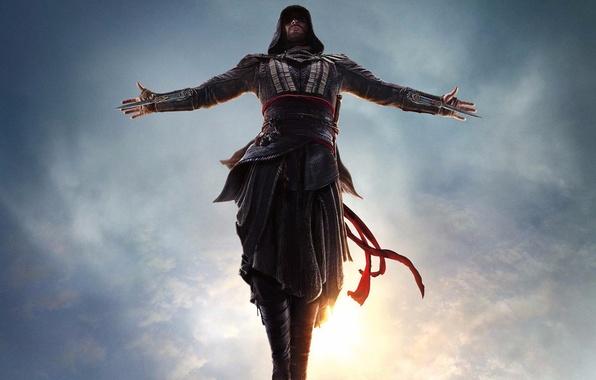 Картинка прыжок, ассасин, Assassin's Creed, Майкл Фассбендер, Кредо Убийцы