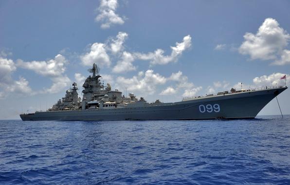 Картинка крейсер, великий, атомный, ракетный, петр