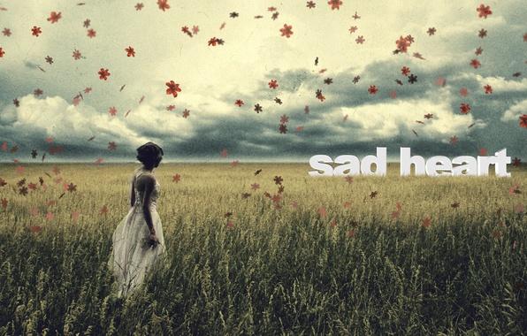Картинка грусть, поле, осень, небо, листья, девушка, стиль, одиночество, настроение, романтика, печаль, чувства, girl, боль, field, …