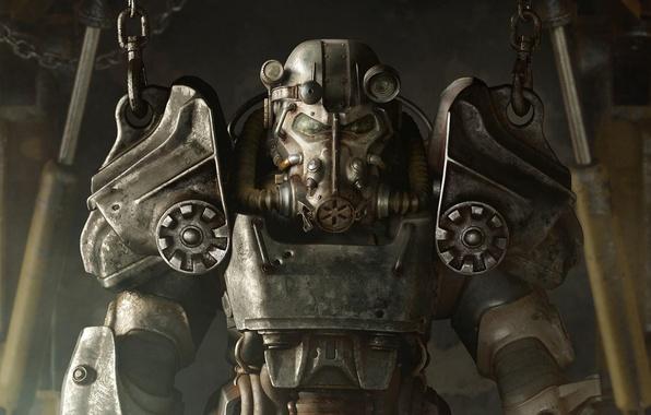 Картинка Взгляд, Броня, Арт, Bethesda Softworks, Bethesda, Экипировка, Bethesda Game Studios, Fallout 4, The Art of …