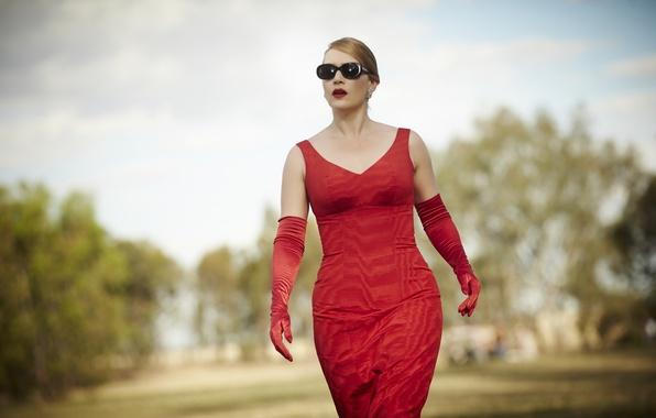 Картинка платье, очки, Кейт Уинслет, Портниха, The Dressmaker