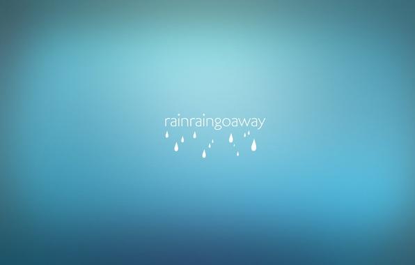 Картинка капли, дождь, надпись, минимализм, слова, rain, minimalism, words, 1920x1080, drops, lettering