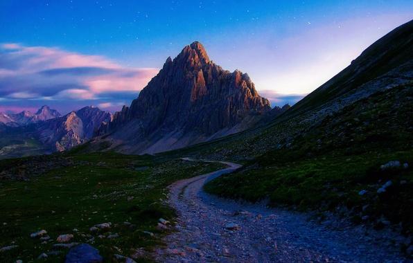 Картинка дорога, лето, камни, Горы, утро, Margall photography