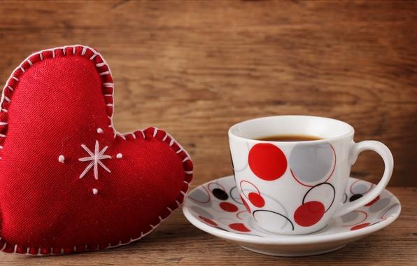 Картинка любовь, сердце, кофе, чашка, valentine's day
