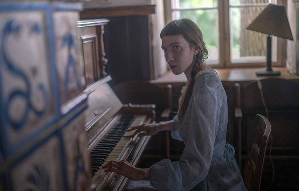Картинка девушка, музыка, пианино