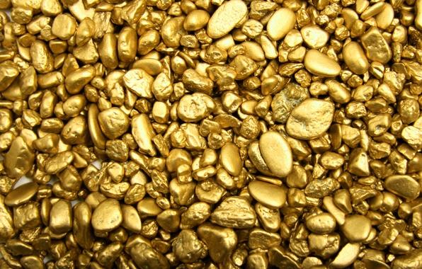 Картинка галька, камни, золото, золотой, слитки, gold