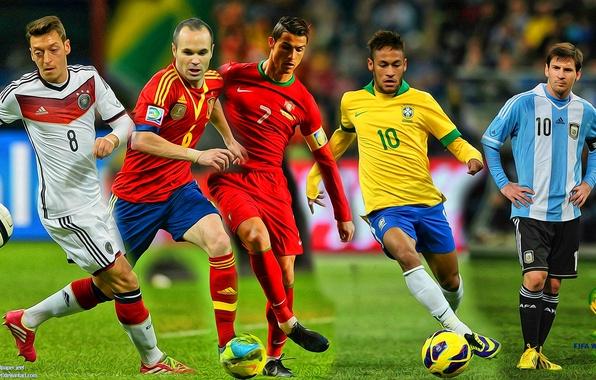 Картинка коллаж, футбол, fifa world cup, brazil, кубок мира, 2014