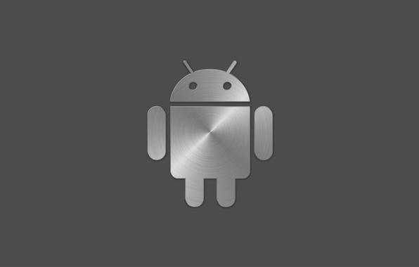 Картинка сталь, значок, робот, лого, андроид, android, google