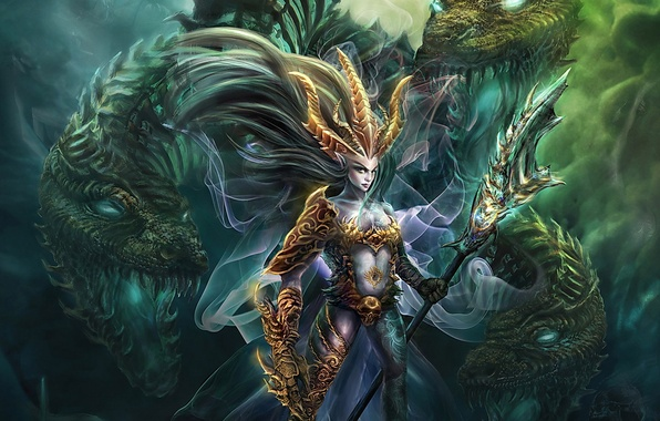 Картинка магия, драконы, фэнтези, существа