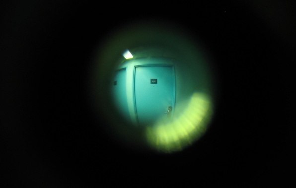 Картинка фон, минимализм, дверь, глазок, квартиры, Черны