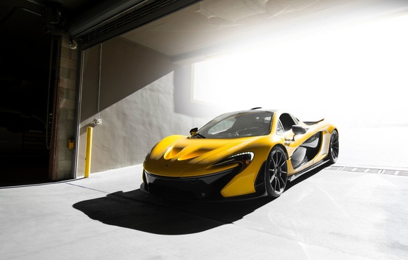 Картинка McLaren, Front, Yellow, Supercar, Ligth, Figth