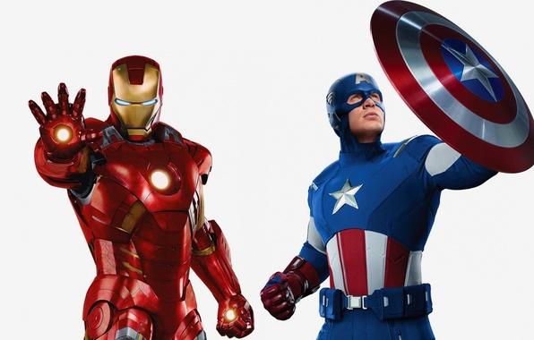 Картинка железный человек, marvel, Iron Man, комикс, comics, Captain America, капитан америка, Мстители, The Avengers, Tony …