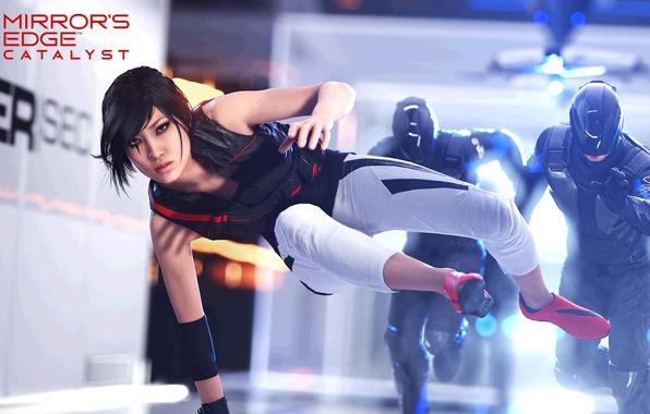 Картинка Девушка, Electronic Arts, DICE, Faith, Фейт, EA DICE, Mirror's Edge: Catalyst, Catalyst, Mirrors Edge: Catalyst