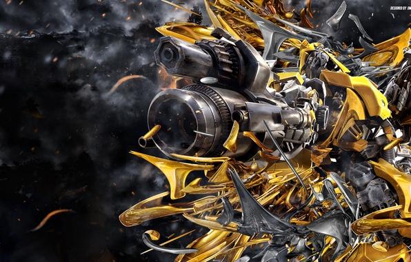 Картинка трансформеры, робот, transformers, bumblebee