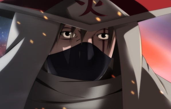 Картинка fire, flame, game, Naruto, sky, hat, anime, man, face, ninja, asian, film, manga, hokage, shinobi, ...