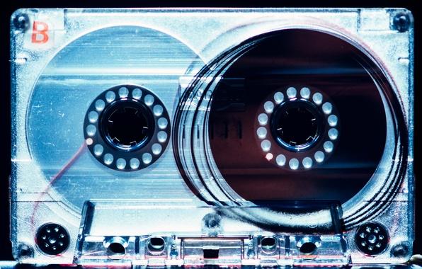 Картинка макро, музыка, плёнка, кассета