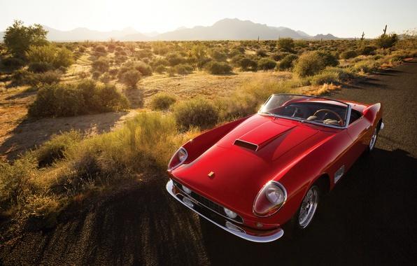 Картинка Ferrari, феррари, калифорния, Spyder, California, 1958, 250 GT, Passo Lungo, fari coperti