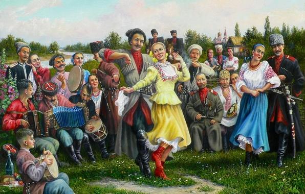 Картинка праздник, арт, казаки, Андрей Лях