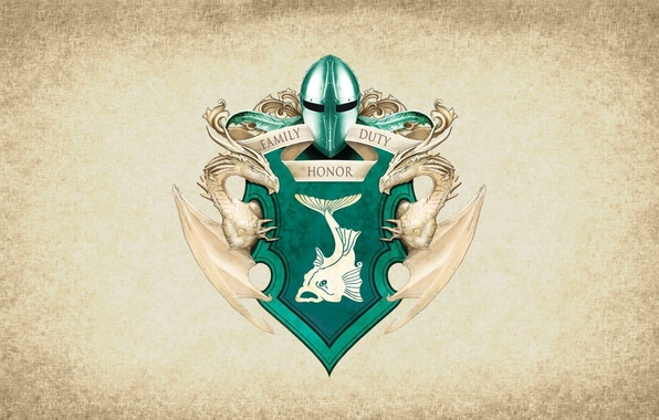 Картинка symbol, series, dragon, A Song of Ice and Fire, Game of Thrones, fish, shield, Tully, …