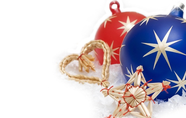 Картинка украшения, игрушки, звезда, новый год, шар, рождество