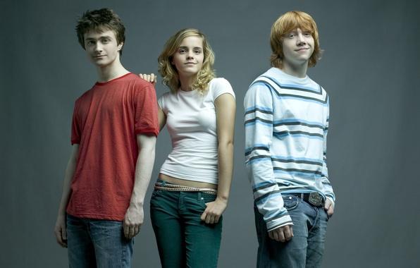 Картинка эмма уотсон, emma watson, гарри поттер, hermione granger, harry potter, дэниэл рэдклифф, daniel radcliffe, руперт …