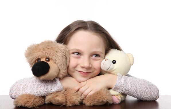 Картинка радость, счастье, дети, улыбка, игрушки, ребенок, куклы, Мишка, милый, smile, toys, child, teddy bear, puppet, ...