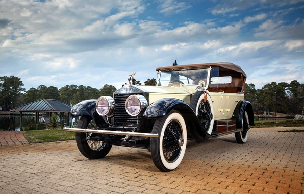 Картинка небо, Rolls-Royce, передок, Роллс-Ройс, 40/50, Silver Ghost, 1923, Pall Mall Tourer
