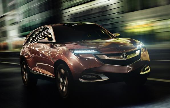 Картинка авто, Concept, фары, концепт, передок, Acura, SUV-X