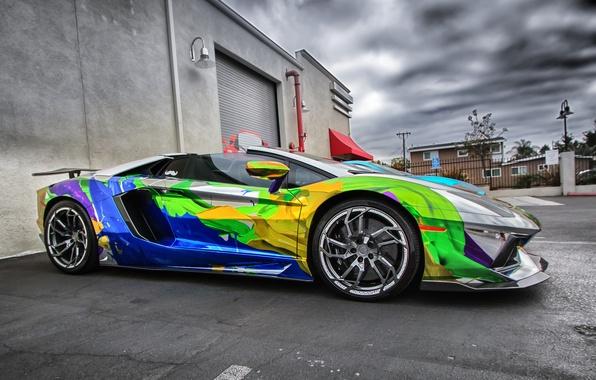 Картинка Lamborghini, aventador, sport car, super car, car.
