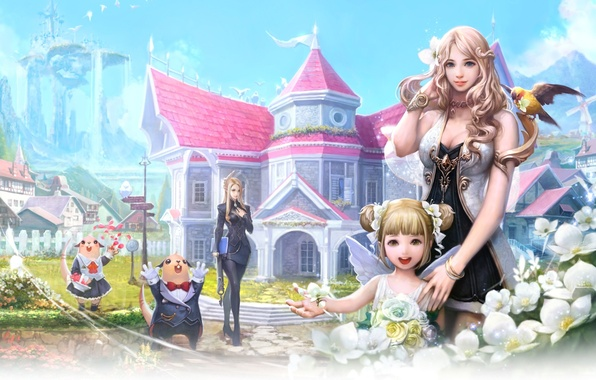 Картинка Fantasy, game, Aion, anime
