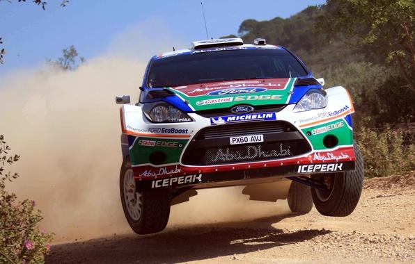 Картинка Ford, Авто, Пыль, Спорт, Форд, Гонка, Решетка, Капот, Фары, Автомобиль, WRC, Rally, Ралли, Fiesta, Фиеста, ...