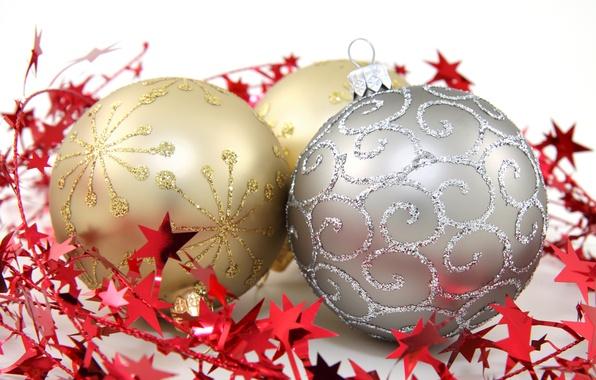 Картинка шарики, шары, узоры, игрушки, серебристый, Новый Год, Рождество, декорации, Christmas, золотые, New Year, елочные, новогодние