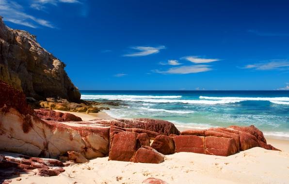 Картинка море, волны, вода, природа, камни, океан, берег, пейзажи, пляжи