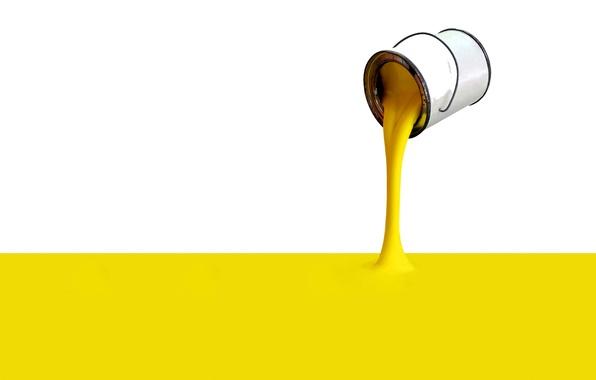 Картинка желтый, обои, краска, банка