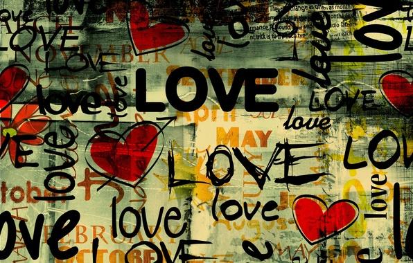 Картинка любовь, стиль, надписи, сердце, арт, Grunge Love style, гранд, месяцы