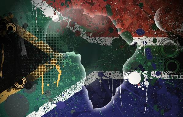 Картинка остров, флаг, Текстура, South Africa, Южно-Африканская Республика