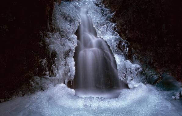Картинка водопад, лёд, Icefall