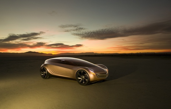 Картинка закат, концепт-кар, Mazda Nagare
