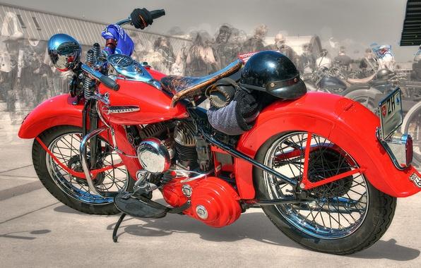 Картинка красный, дизайн, стиль, фон, HDR, мотоцикл, форма, байк