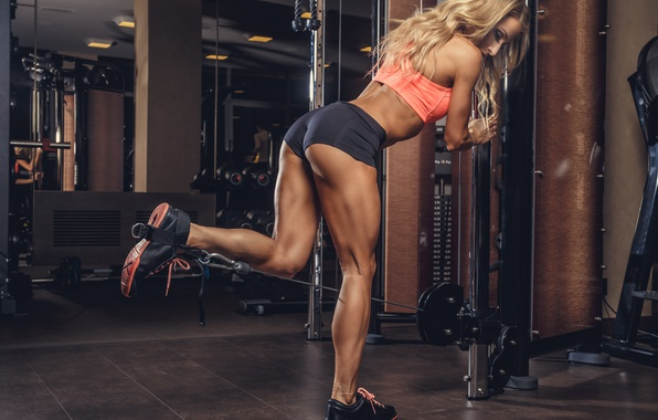 Картинка legs, muscles, blonde, workout, fitness, bodybuilder